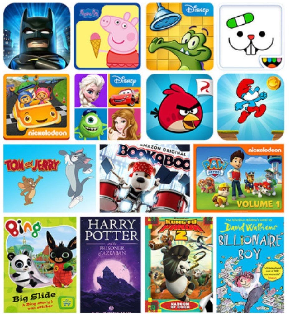 KindleShop Kindle Fire 7 - Kids Edition apps og spil