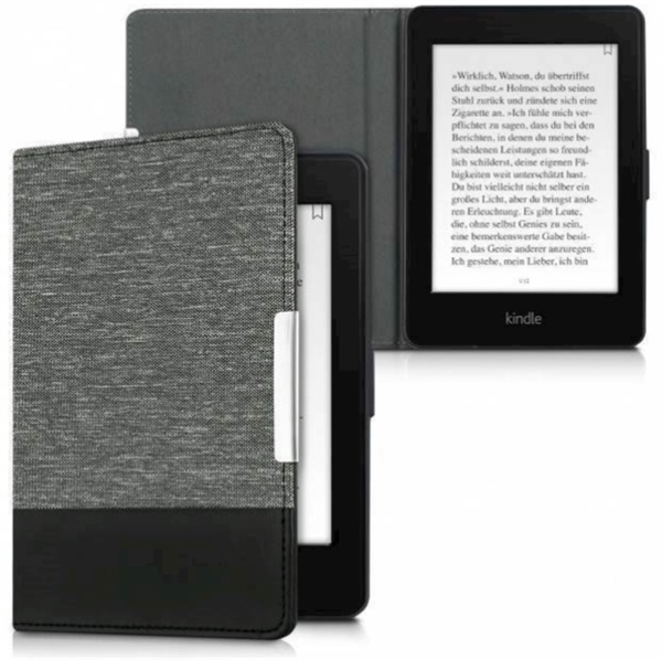 eBookReader Paperwhtie 4 cover canvas sort graa