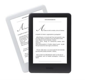 eBookReader Amazon Kindle 10 sort eller hvid
