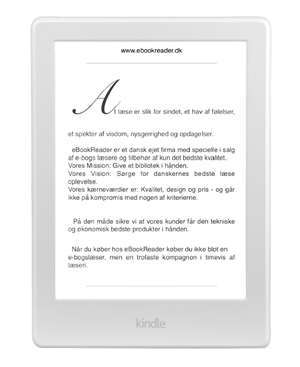 eBookReader Amazon Kindle 8 hvid forside