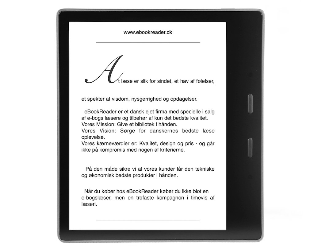 eBookReader Amazon Kindle Oasis Graphite Grafit forfra