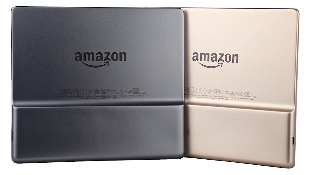 eBookReader Amazon Kindle Oasis Graphite eller Champagne guld gold