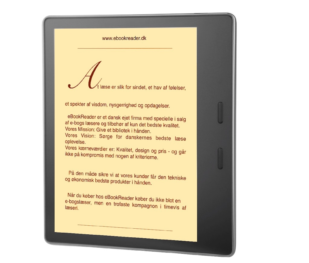 eBookReader Amazon Kindle Oasis varm lys