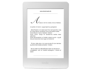 Kindle Paperwhite 3 (2015) - Hvid - DEMO
