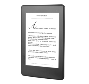 eBookReader Amazon Kindle Paperwhite 3 sort forfra vinkel