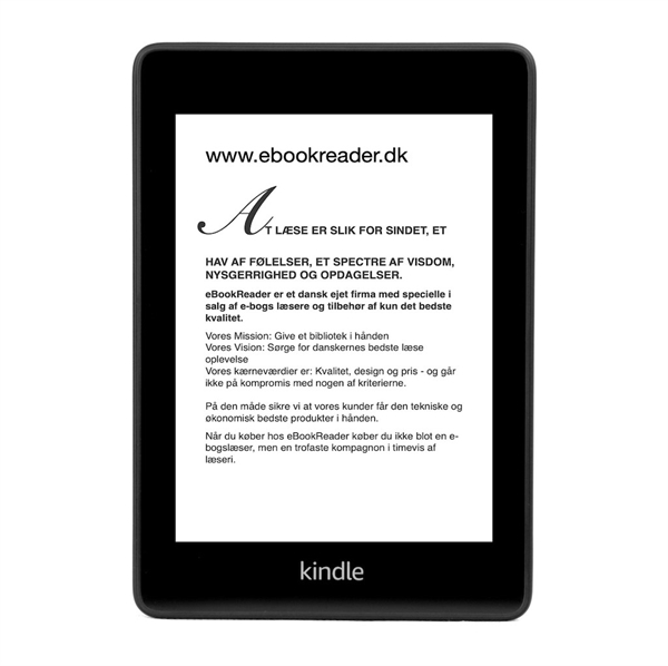 eBookReader Paperwhite 4 - 2018 ebogslæser eBook reader menu font ændring