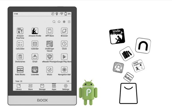 eBookReader Onyx BOOX Poke 3 - Android apps